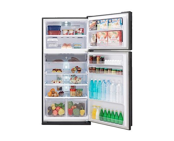 581L Sharp Black Top Mount Fridge