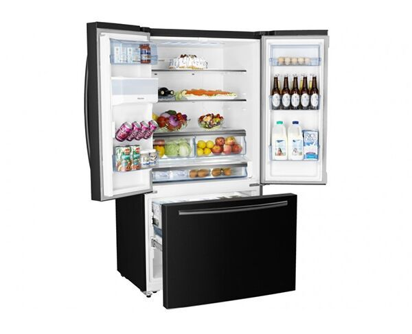 630L Hisense French Door Black Fridge