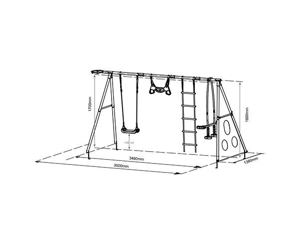 Swing Slide Climb 6 Function Swing Set