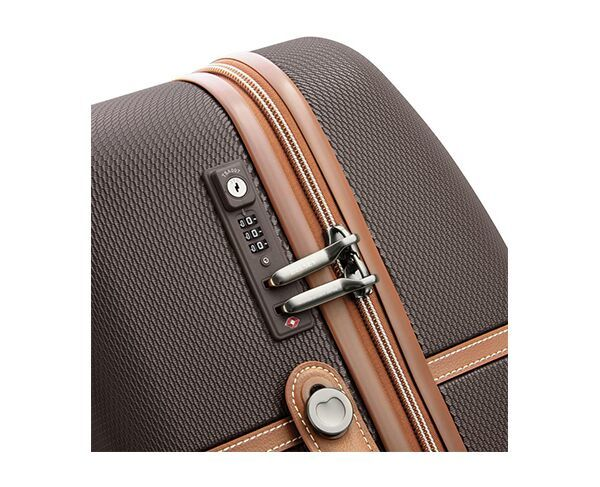 Delsey 67cm Chatelet Air 4 Double-Wheel Trolley Suitcase - Chocolate