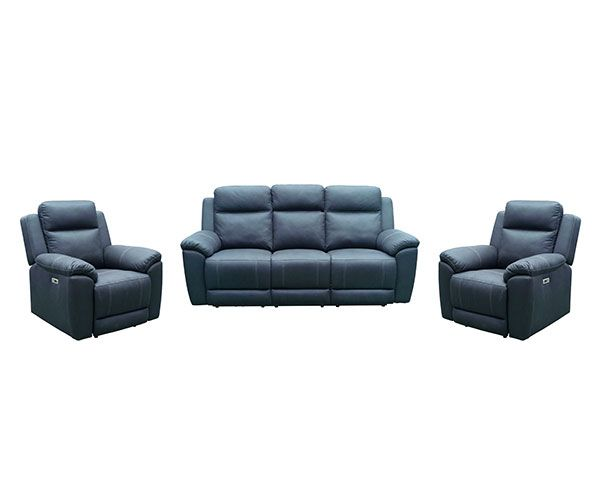 Middleton Electric 3 Seater with Twin Recliners – Aegean