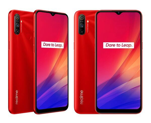 2 x realme C3 64GB Blazing Red Bundle