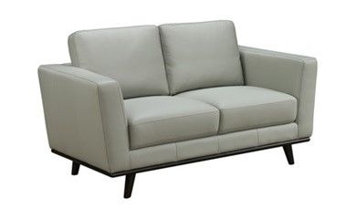 Sheldon 2 Seater Capri Leather Pewter