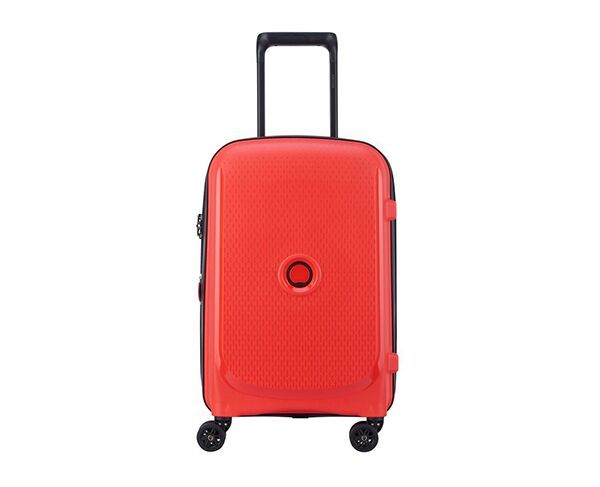 Delsey 55cm Belmont Plus 4-Wheel Cabin Trolley Suitcase - Red