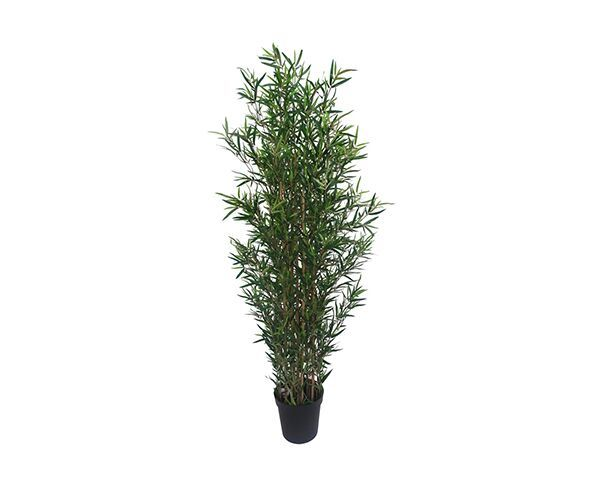 Faux Bamboo & Pot (Set of 2)