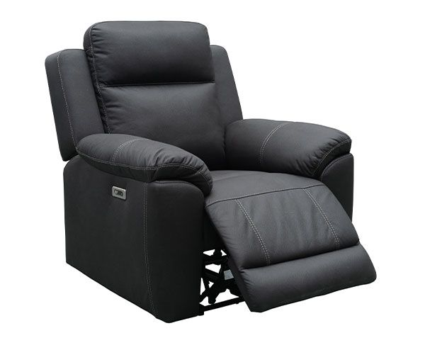 Middleton Electric 3 Seater with Twin Recliners – Jet