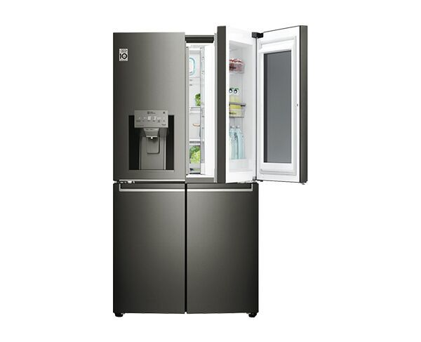708L LG French Door Black Stainless Steel Fridge