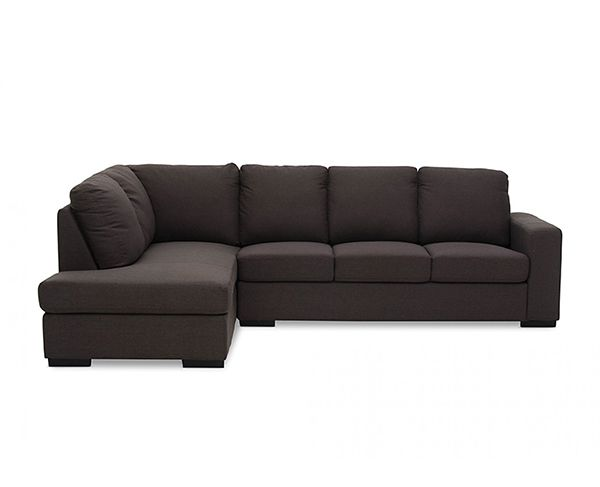 Nixon 4 Seater Sofa with Chaise - Coffee