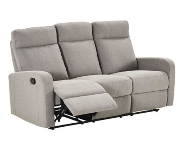 Elliot 3 Seater   2 Reclining Armchairs Sofa Set in Fabric (Grey)