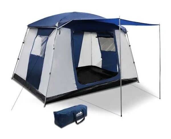 6 Person Dome Camping Tent – Navy/Grey