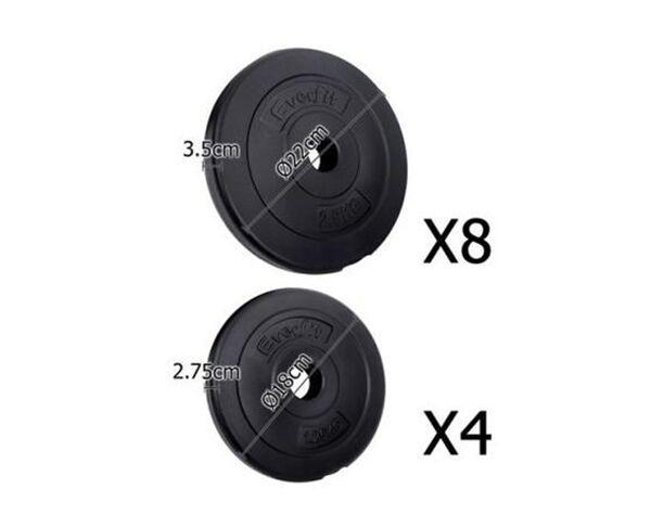 Everfit Home Gym 30kg Dumbell Set