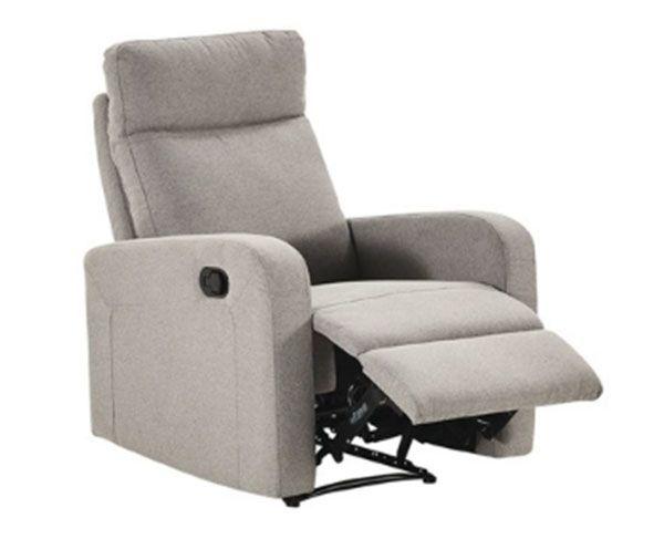 Elliot 3 Seater   2 Reclining Armchairs Sofa Set in Fabric (Grey)