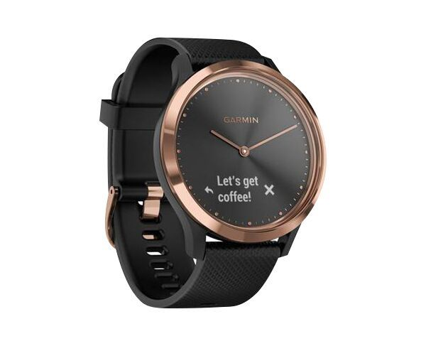 Garmin Vivomove HR Hybrid - Rose Gold Watch with Black Band