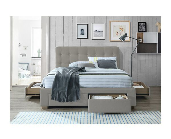 Catania Oatmeal King Bed