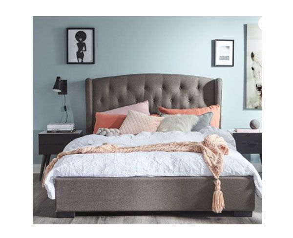 Taylor Queen Bed (Grey)