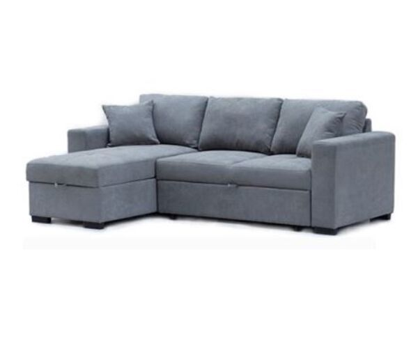 York 3 Seater Sofa Bed with Chaise - Mist