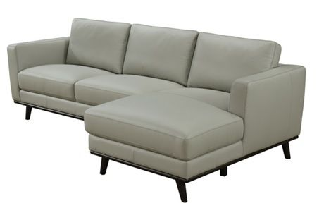 Sheldon 3 Seater Capri Leather Charcoal Grey