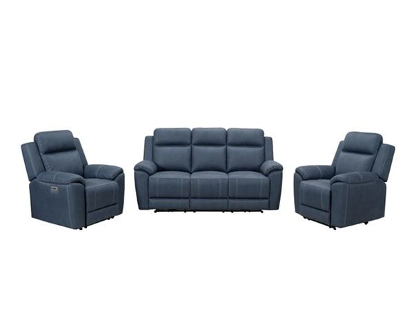 Haliday Manual 3 Seater with Twin Recliners – Aegean