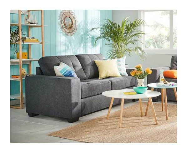 Tyler 2 & 3 Seater Sofa Fabric Charcoal