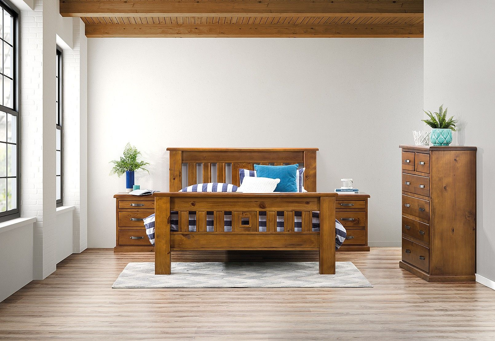 Settler 4 Piece Queen Bedroom Suite